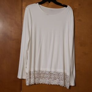 Ivory lace bottom tunic